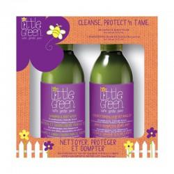 Rinkinys plaukų priežiūrai vaikams Little Green Cleanse, Protect'n Tame