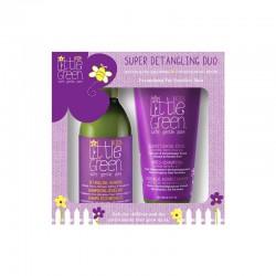 Rinkinys plaukų priežiūrai vaikams Little Green Kids Super Detangling Duo