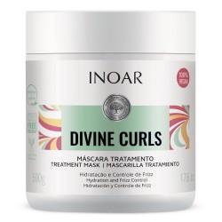 Kaukė garbanotiems banguotiems plaukams INOAR Divine Curls Mask 500ml