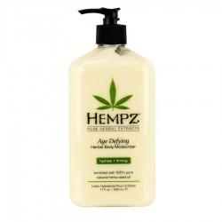 Drėkinantis kūno pienelis su augaliniais ekstraktais prieš odos senėjimą Hempz Age Defying Moisturizer 500ml