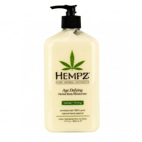 Drėkinantis kūno pienelis su augaliniais ekstraktais prieš odos senėjimą Hempz 500 ml