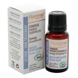 Eterinių aliejų sinergija raumenims ir sąnariams Florame 15ml