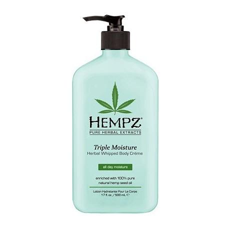 Intensyviai drėkinantis kūno kremas su augaliniais ekstraktais Triple Moisture Herbal Whipped Body Cream 500 ml
