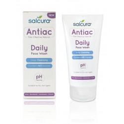 Veido prausiklis nuo spuogų Salcura Antiac Daily 150 ml.
