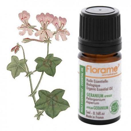 Afrikinių pelargonijų eterinis aliejus Florame 5 ml