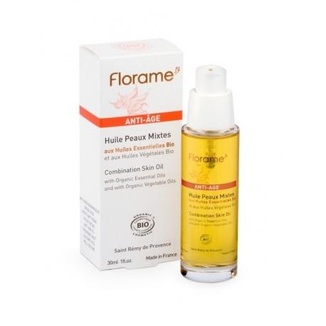 Florame organinis aliejus prieš senėjimą mišriai odai 30 ml