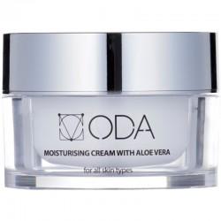 Drėkinamasis veido kremas su alavijais ir hialuronu ODA  Intensive Moisturizing Cream with Aloe Vera & Hyaluronic acid 50ml