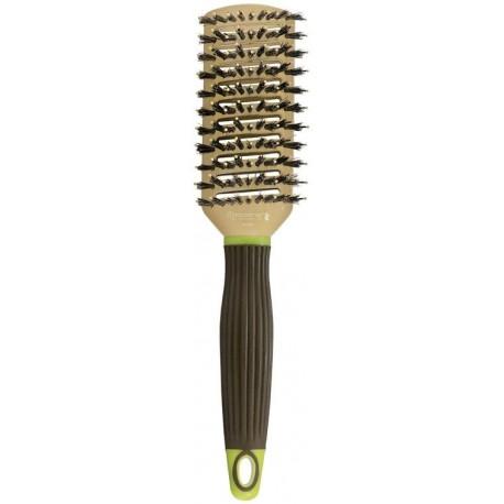 Antibakterinis šepetys plaukų džiovinimui su šerno šeriais, jonais bei antistatiku