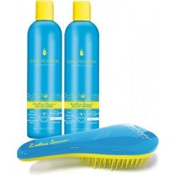 Kasdienio naudojimo švelnaus poveikio plaukų priemonių rinkinys Macadamia, 3 dalių