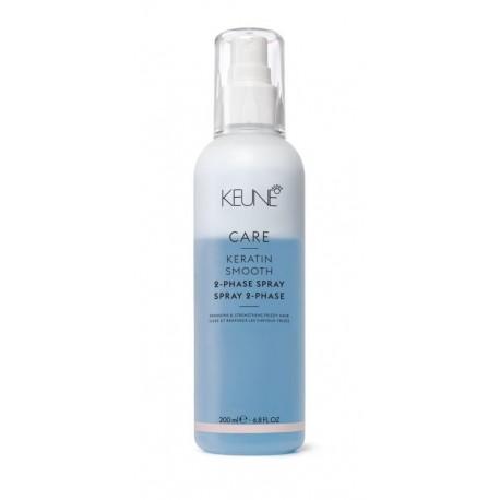 Dvifazis purškiklis plaukams su keratinu KEUNE Care Line KERATIN SMOOTH 200ml