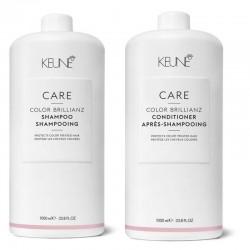 Rinkinys dažytų plaukų priežiūrai KEUNE COLOR BRILLIANZ (šampūnas 1000ml + kondicionierius 1000ml)