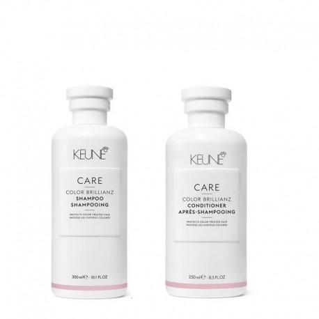 Rinkinys dažytų plaukų priežiūrai KEUNE COLOR BRILLIANZ (šampūnas 300ml + kondicionierius 250ml)