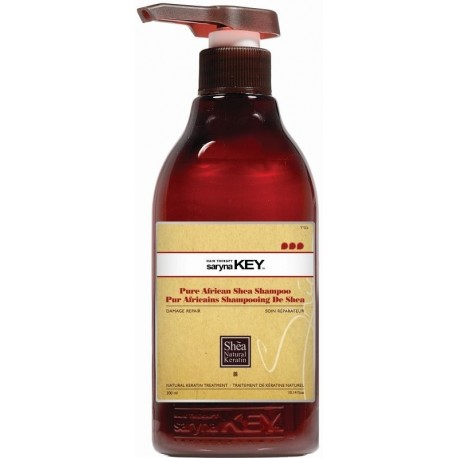 Atstatomasis plaukų šampūnas su taukmedžio sviestu pažeistiems plaukams Saryna Key