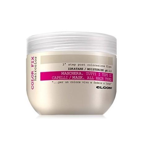 Giliai drėkinanti ir plaukų spalvą sauganti kaukė Elgon Color Fix pH2 500ml