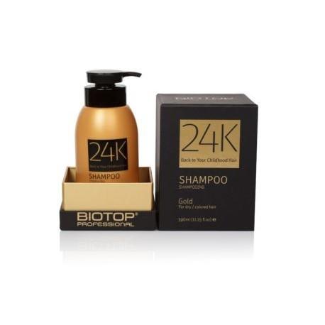 Šampūnas plaukams su 24K auksu BIOTOP Gold Shampoo 330ml