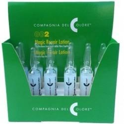 Šylančios plaukų ampulės su bičių pieneliu Compagnia del Colore Magic repair Lotion 12 amp.x10ml