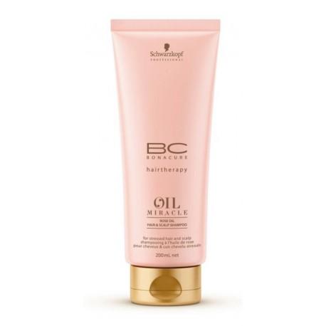 Raminantis šampūnas su rožių aliejumi sudirgusiai galvos odai ir plaukams Schwarzkopf Professional Rose Oil Shampoo