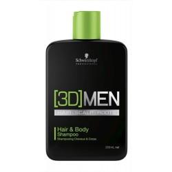 Vyriškas plaukų ir kūno šampūnas Schwarzkopf Professional [3D]MEN Hair&Body