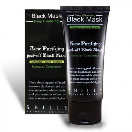 Juoda giliai valanti anglies veido kaukė SHILLS Purifying Blackhead removing Peel-off Mask 50ml