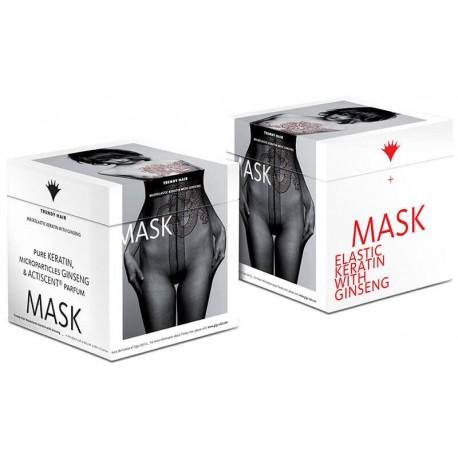 Plaukų kaukė su grynu keratinu ir ženšeniu Trendy Hair Maskelastic 500ml