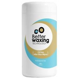 Servetėlės po depiliacijos Better Waxing Technology impregnuotos aliejumi 100 vnt.
