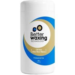 Ne aliejinės servetėlės vaško likučiams valyti Better Waxing Technology 100 vnt.