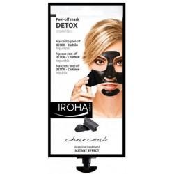 Detoksikuojanti veido kaukė su anglimi IROHA Black Peel Off Detox Mask Charcoal nuplėšiama 18ml