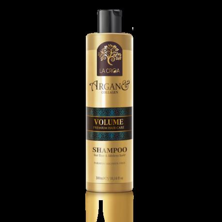 La Croa Volume apimties suteikiantis šampūnas su kolagenu ploniems ir pažeistiems plaukams 300 ml