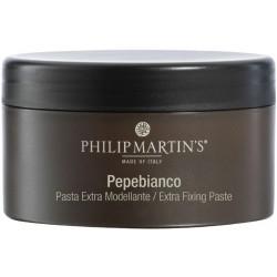 Stiprios fiksacijos modeliuojamoji plaukų pasta Philip Martin's Pepebianco 75ml