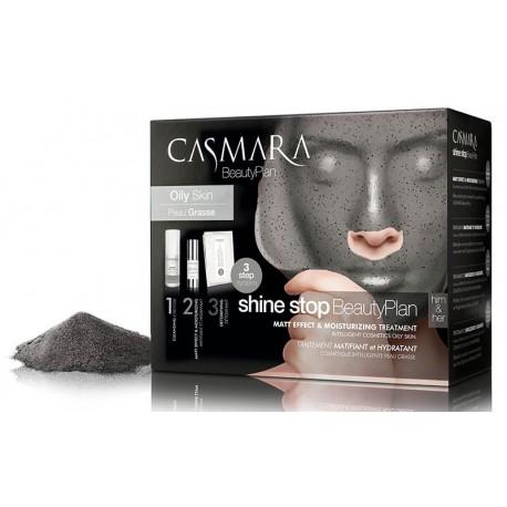 Valanti veido odą, reguliuojanti riebalų išsiskyrimą alginatinių kaukių rinkinys Casmara Pack Shine Stop Beauty Plan