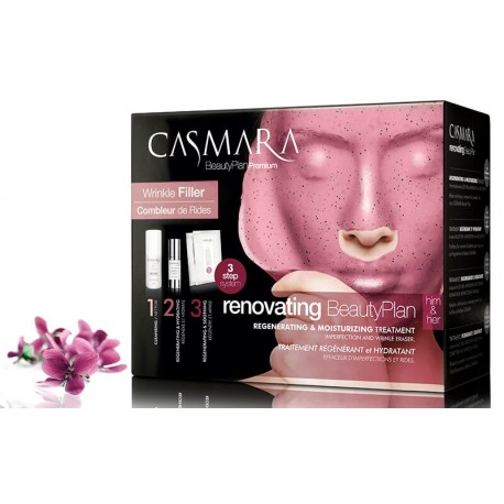 Atstatanti veido odą, alginatinių veido kaukių rinkinys Casmara Pack Renovating Beauty Plan Premium
