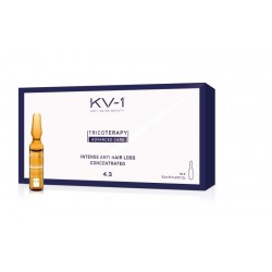 Ampulės intensyviam plaukų slinkimui KV-1 INTENSE ANTI HAIR LOSS 4.3  10 vnt  - 10 ml