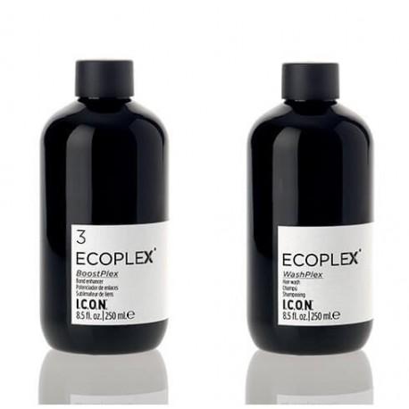 I.C.O.N. Rinkinys ypač nualintiems ir pažeistiems plaukams Ecoplex (šampūnas 250ml+ kaukė 250ml)