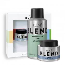 Rinkinys matinėms šukuosenoms kurti KEUNE Blend (atgaivinantis purškiklis REFRESH, 150ml + klijai plaukų modeliavimui, 75ml)