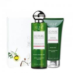 KEUNE SO PURE rinkinys dažytų plaukų priežiūrai COLOR CARE (šampūnas 250ml + kondicionierius 200ml)