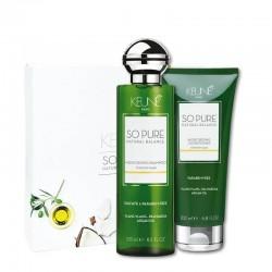 KEUNE So Pure efektyviai plaukus drėkinantis rinkinys MOISTURIZING (šampūnas 250ml + 200ml)