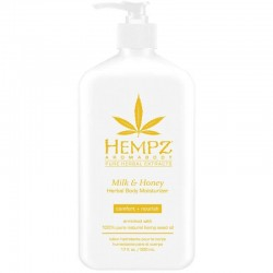 Drėkinantis kūno pienelis su pienu ir medumi Hempz Milk & Honey Herbal Body Moisturizer 500ml