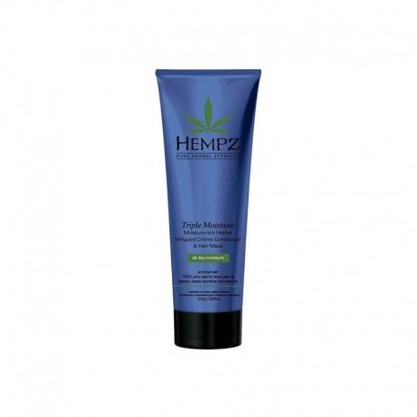 Purios konsistencijos plaukų kondicionierius/ kaukė HEMPZ Triple Moisture - Rich Herbal Whipped Conditionier/Hair mask 266ml