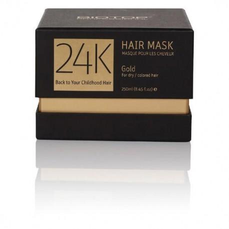 Kaukė sausiems ir dažytiems plaukams su 24K auksu BIOTOP Gold Hair Mask