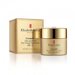 Stangrinamasis paakių kremas Elizabeth Arden Ceramide Lift and Firm Eye Cream Sunscreen SPF 15 15ml