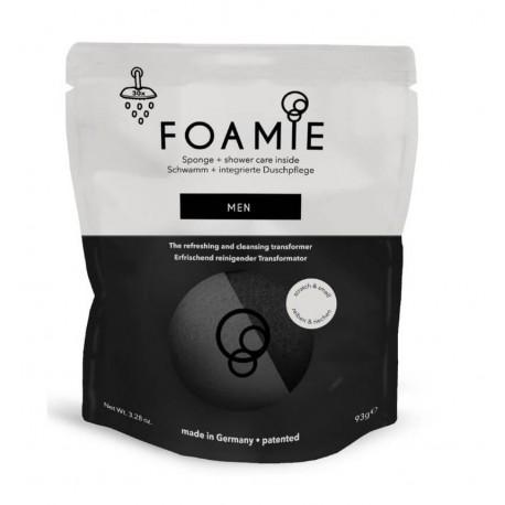 Kempinė su putojančiu prausikliu Foamie Sponge + Shower Care Inside MEN