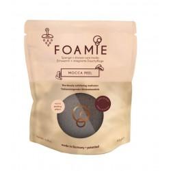 Kempinė su putojančiu prausikliu Foamie Sponge + Shower Care Inside Mocca Peel