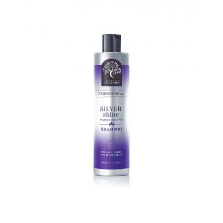 Sidabrinį atspalvį suteikiantis šampūnas be parabenų  LA CROA Silver Shine 300ml