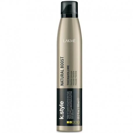 Suteikiančios plaukams  purumo putos Lakme k.style Natural Boost Thick&Volume 300ml