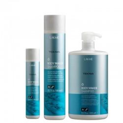 Plaukų apimtį didinantis šampūnas ploniems ir silpniems plaukams Lakme Teknia Body Maker