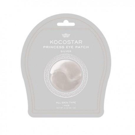 Senėjimą stabdanti bei drėkinanti hidrogelio kaukė paakiams Kocostar  Princess  Eyes Patch Silver 1vnt.