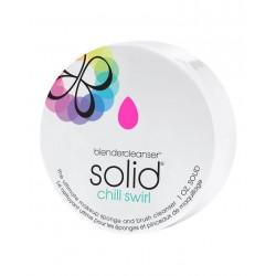 BeautyBlender makiažo kempinėlių bei šepetėlių valiklis BeautyBlender Chill Swirl Solid BlenderCleanser 28g.