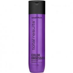 Šampūnas su antioksidantais apsaugo nuo blukimo ir suteikia ilgiau išliekančią spalvą Matrix Total Results Color Obsessed 300ml