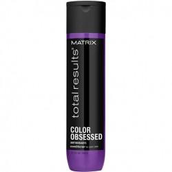 Kondicionierius apsaugo plaukus nuo blukimo ir suteikia ilgiau išliekančią spalvą  Matrix Total Results Color Obsessed 300ml