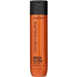 Šampūnas su taukmedžio sviestu nepaklusniems plaukams Matrix Total Results Mega Sleek 300ml
